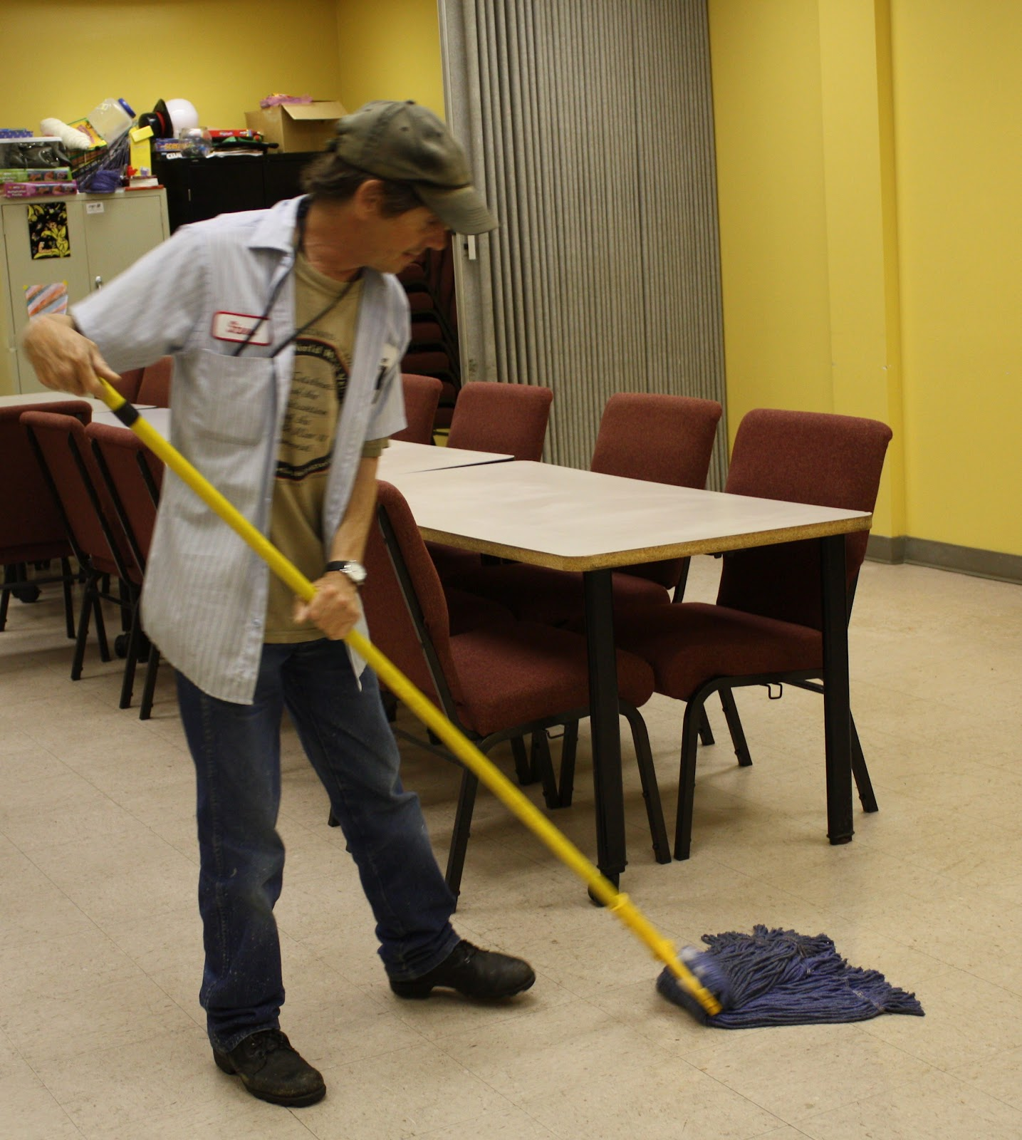 custodian reaches goals one day at a time