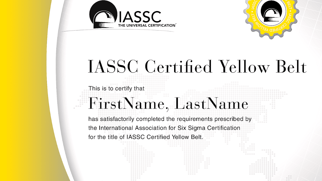 Lean Six Sigma Yellow Belt Yellow Choices