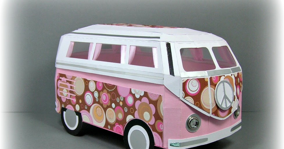 paper n svg crafty me my 3d vw samba bus. Black Bedroom Furniture Sets. Home Design Ideas