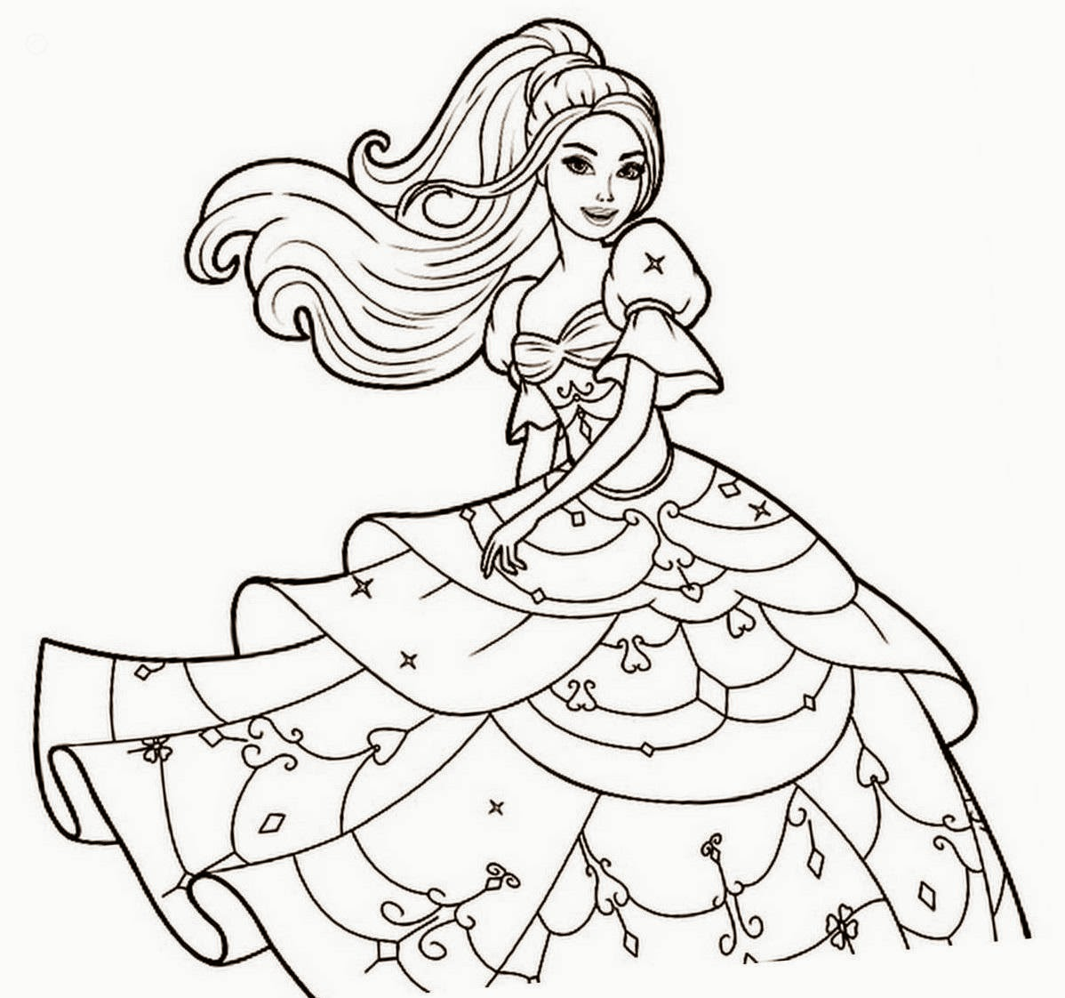 Barbie Coloring Drawing Free wallpaper