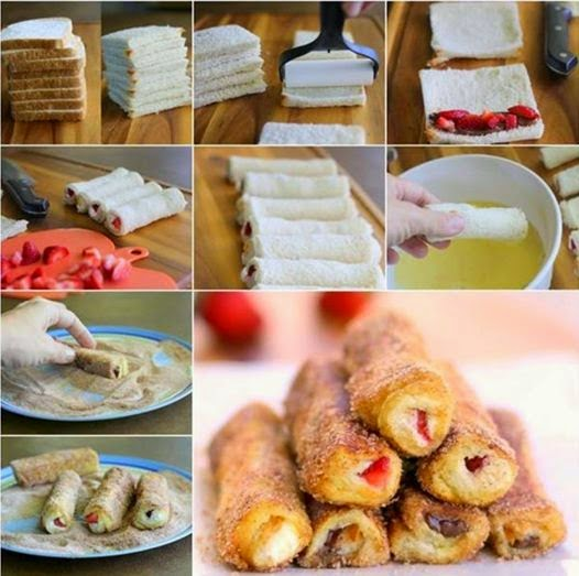 how to make best and healthy recipes: French Toast Roll-Ups