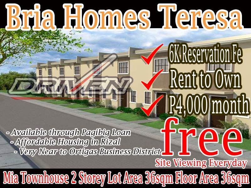 Low Cost Housing In The Philippines: Pag Ibig Rent To Own House In Teresa  Rizal   BRIA Homes By Carissa Homes