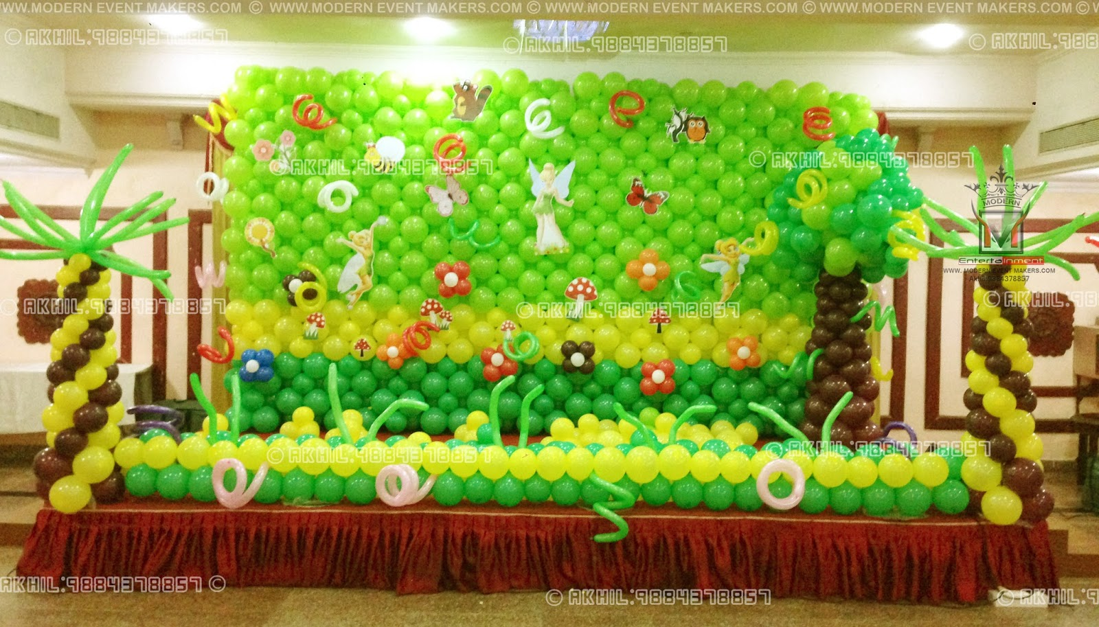 Event management company balloon decoration modern for Balloon birthday decoration