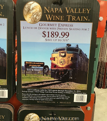 Enjoy the wine country with the Napa Valley Wine Train Gourmet Express for 2