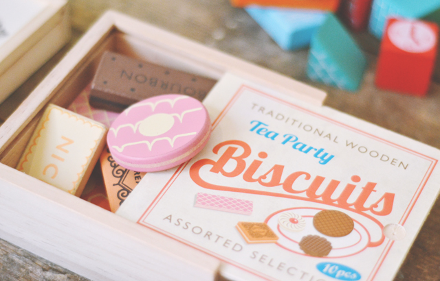Wooden biscuits