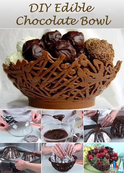 DIY Edible Chocolate Bowl