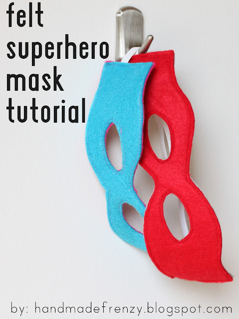 Felt superhero mask tutorials