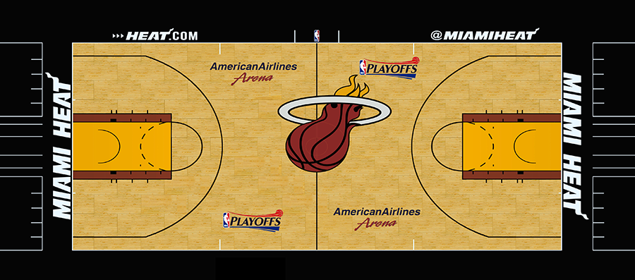 NBA 2K14 Miami Heat Court Playoffs Version