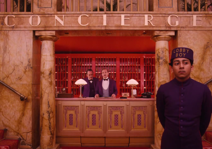 Tony Revolori as young Zero Moustafa, lobby boy, The Grand Budapest Hotel (2014), Directed by Wes Anderson