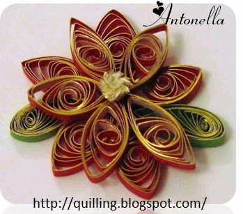 A Quilled Christmas Birdhouse Ornament from Antonella at www.quilling.blogspot.com  #Quilled #Quilling # Birdhouse #Ornament #Christmas