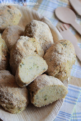 crocchette al forno di patate e zucchine
