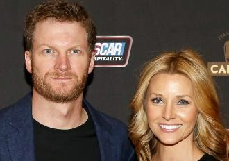 Dale Earnhardt Jr. and girlfriend Amy Reimann (#NASCAR Photo)