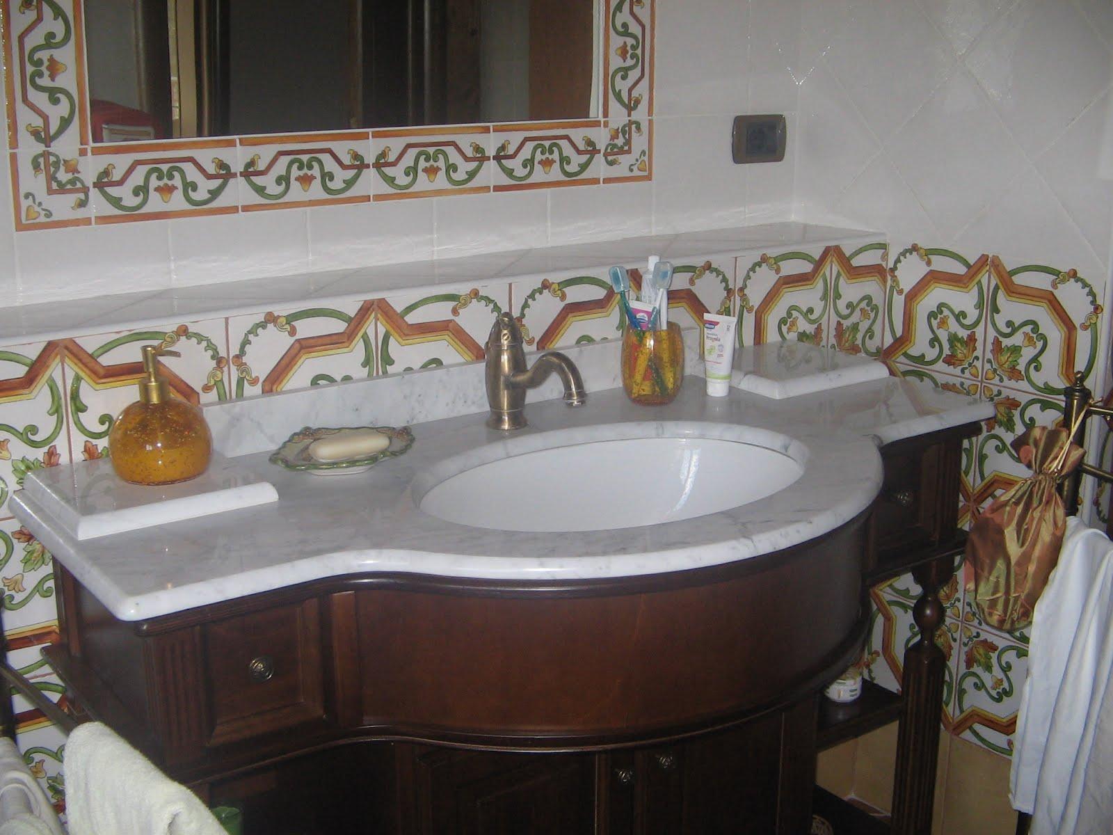 la casa nei platani maioliche da bagno