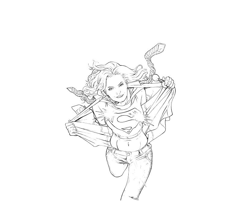 supergirl coloring pages printables - photo#29