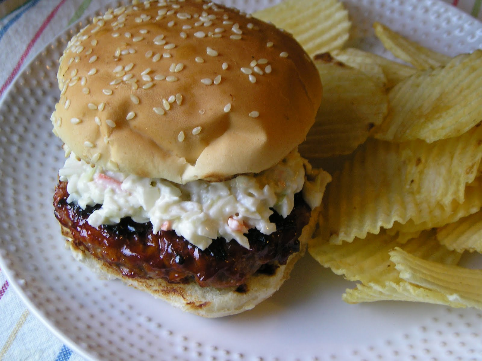 Barbecue Pork Burgers ~ Edesia's Notebook