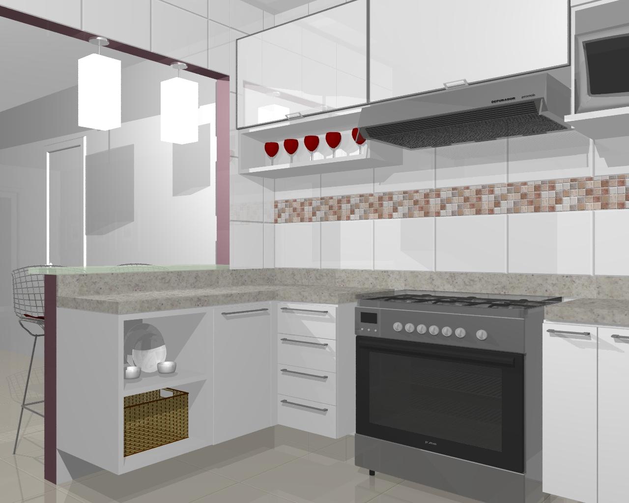 Consultoria PA: Sra. Luana Freitas Reforma da cozinha Belém PA #623D2D 1280 1024