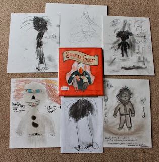 Cinder Drawings inspired by Spinster Goose by Lisa Wheeler and Sophie Blackall