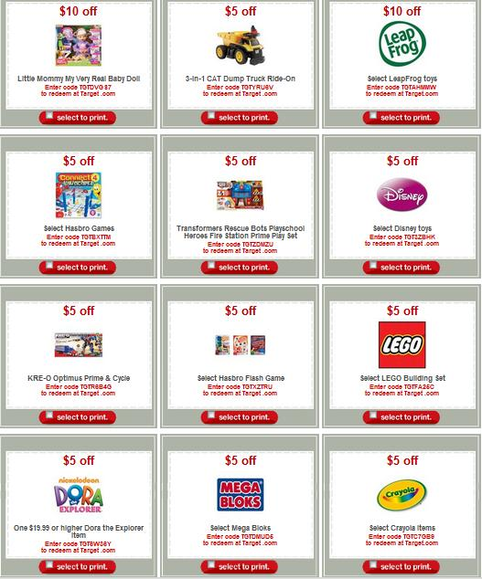 Target com coupons for toys