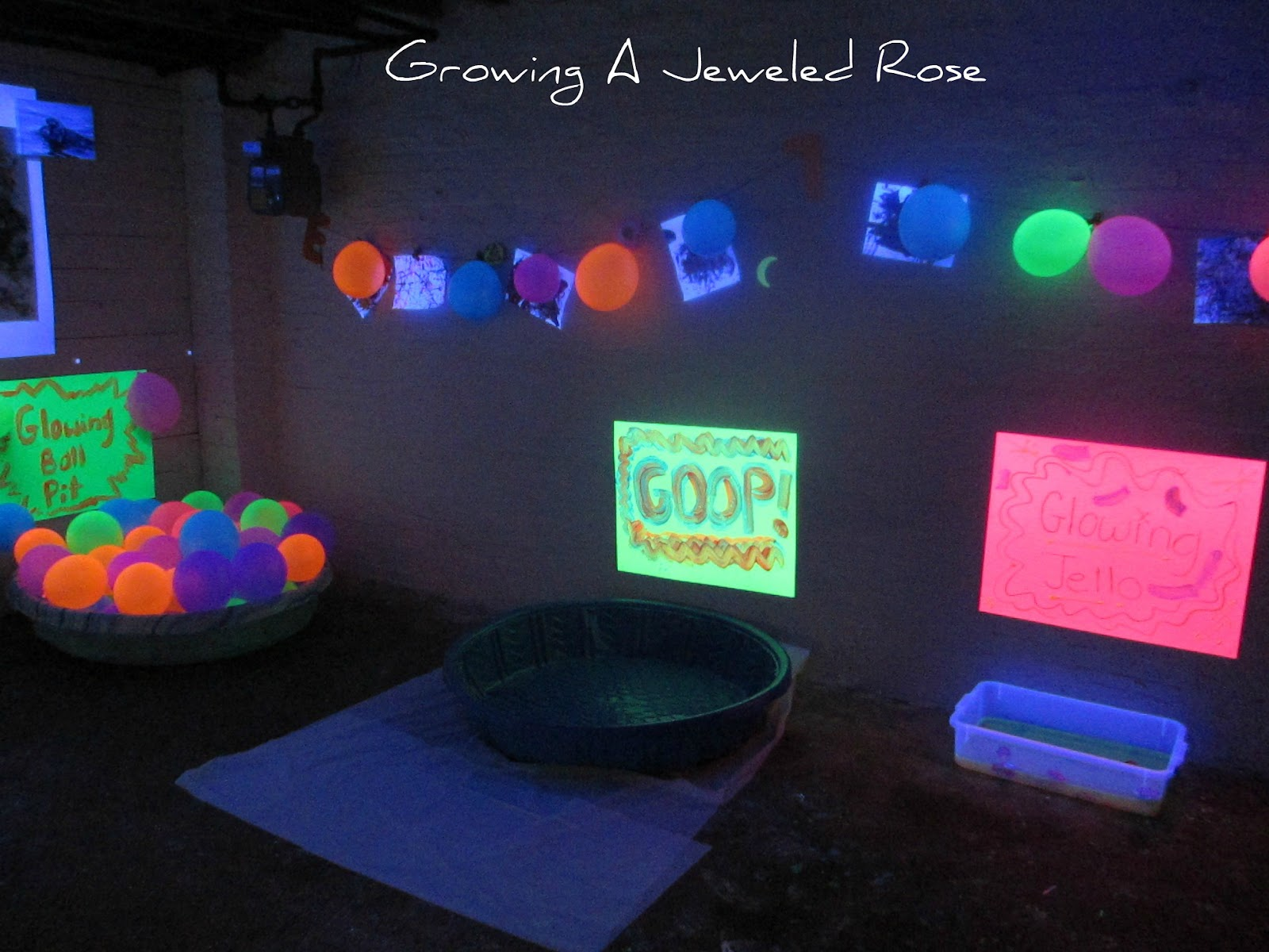 Black Light Themed Party for Kids | Growing A Jeweled Rose for Black Light Bulb Room  111ane