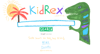 KidRex search engine webpage