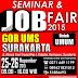 Peluang berkarier Seminar dan Job Fair 2015 di GOR UMS Surakarta Tanggal 25 - 26 November 2015