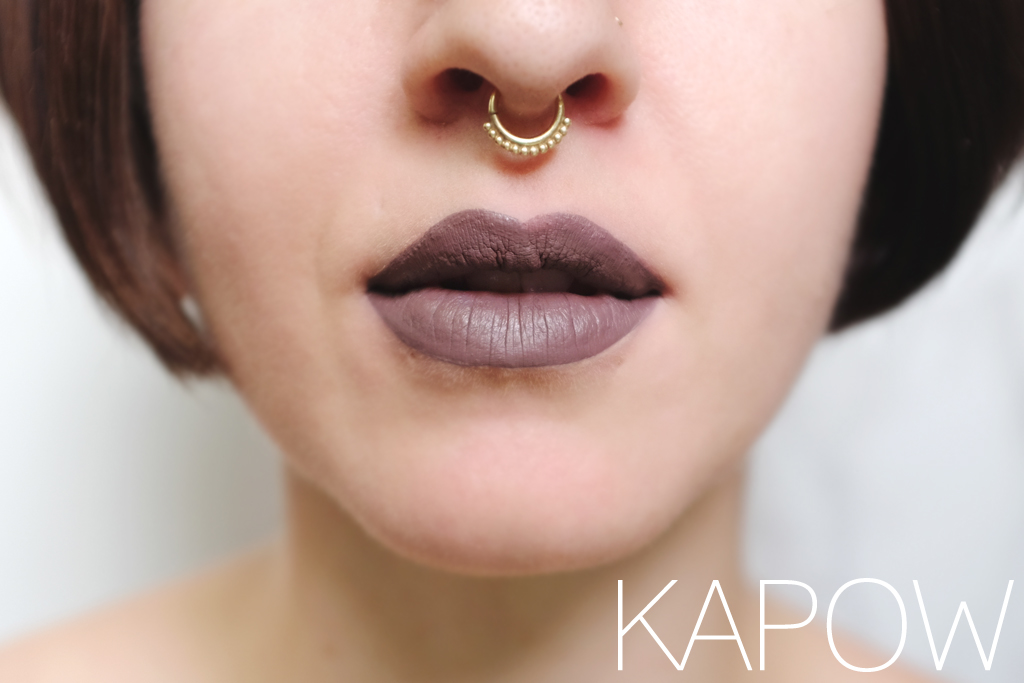 ColourPop Cosmetics Ultra Matte Lip Kapow Swatch - Mini Penny Blog