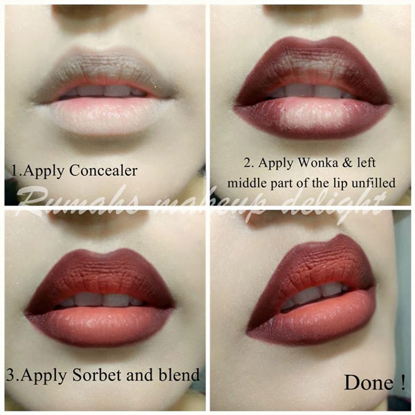 Step By Instructions To Do Ombre Lips Makeup Here Is The Three Stage For Applying Follow This Stride