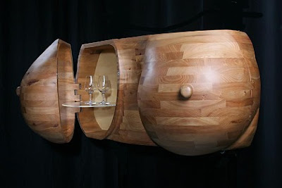 Breasts drinks cabinet furniture