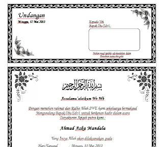 Download Contoh Undangan Aqiqah Dengan Ms. Word Terbaru