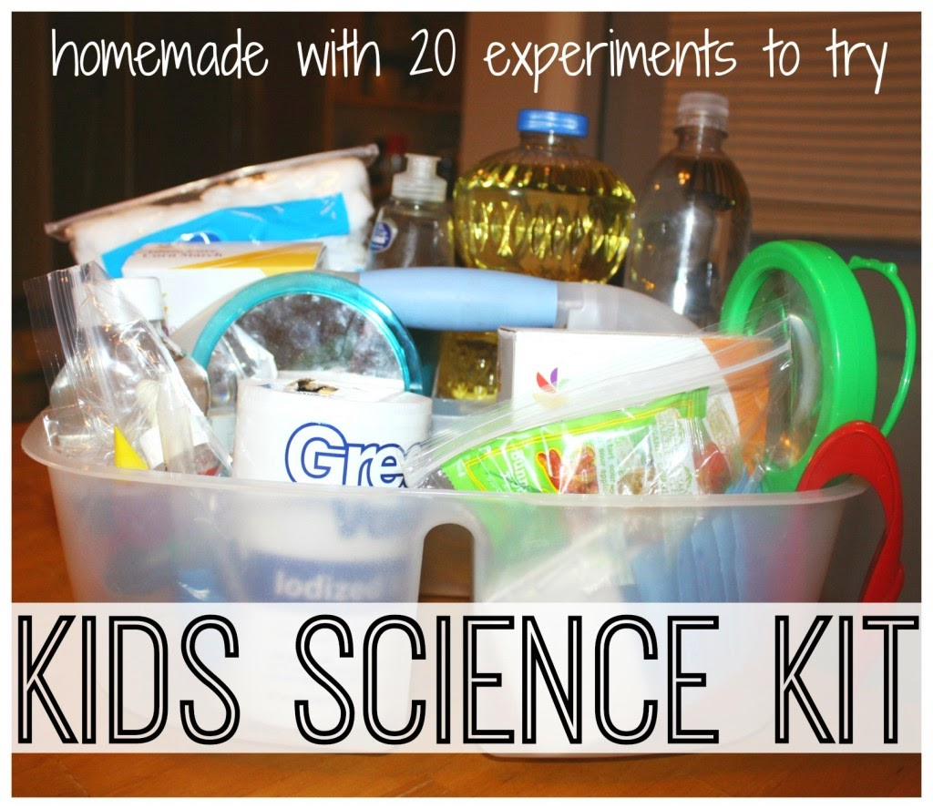 DIY Homemade kids Science Kit With 20+ Experiments