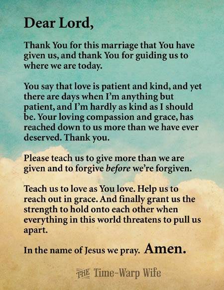 A heart for my home free printable marriage prayer