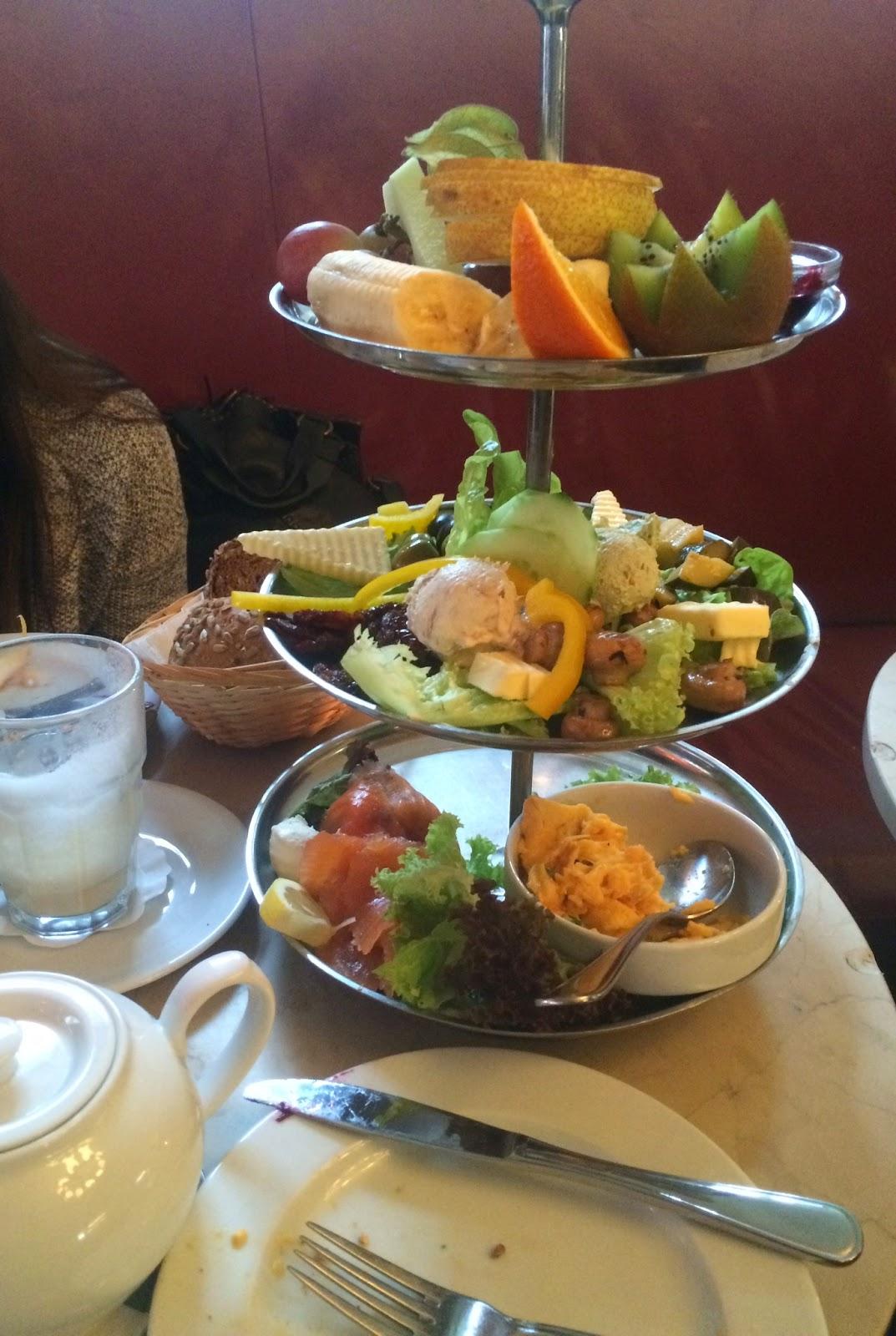 Breakfast tower at Cafe Anna Blum