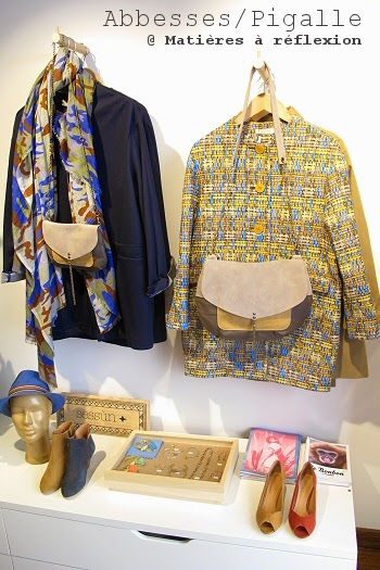 Foulard Lovat and green bleu-sable-jaune