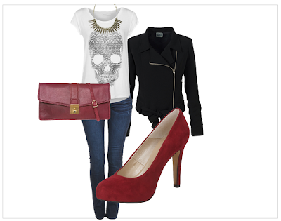 Outfit - Rote Pumps 01