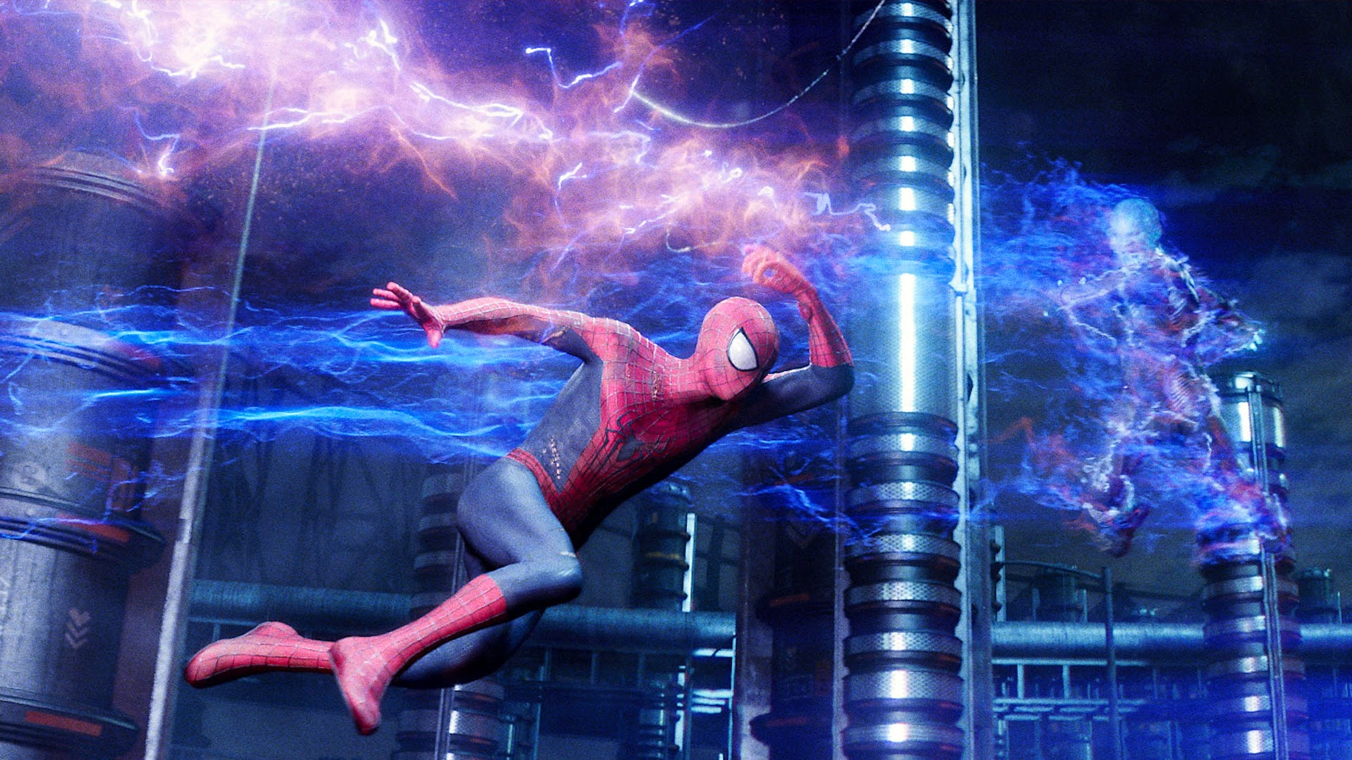 the amazing spider man 2 2014 movie spider man vs electro hd wallpaper
