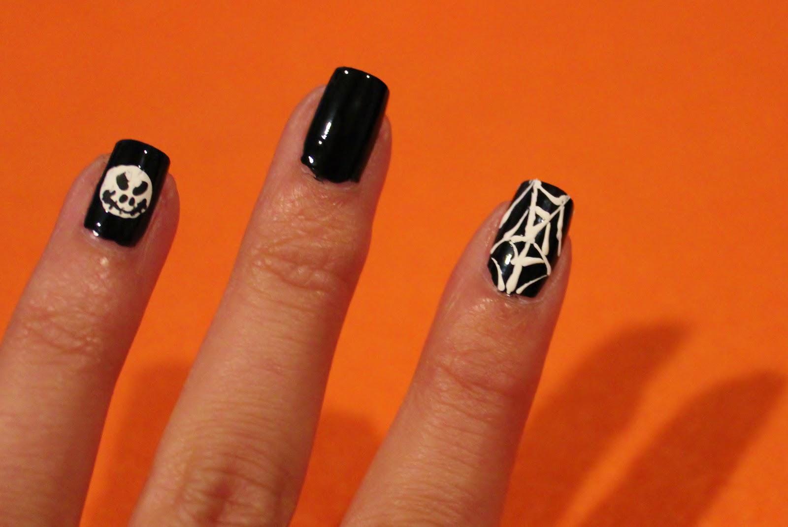 Simple Nail Art for Newbies: \'Jack Skellington\' Nightmare Before ...