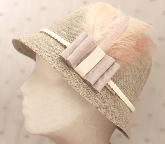 Colección La Cesta - Sombrero Nude lazo primavera