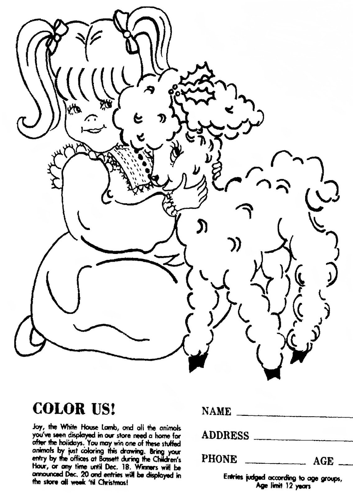 Free Baby Lamb Coloring Pages