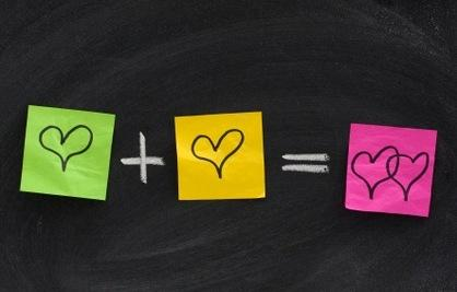 Can a Formula Predict Marriage Success - heart plus + heart = equals two hearts