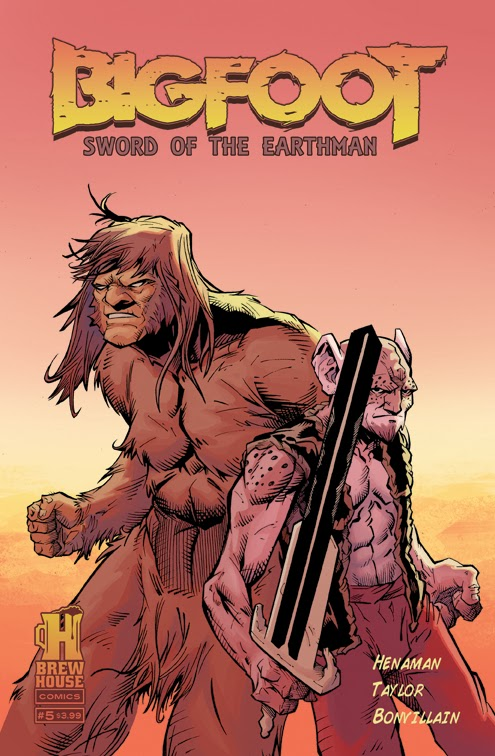 bigfoot sword of the earthman issue five issue 5 preview cover bigfoot comic book bigfoot graphic novel barbarian comic