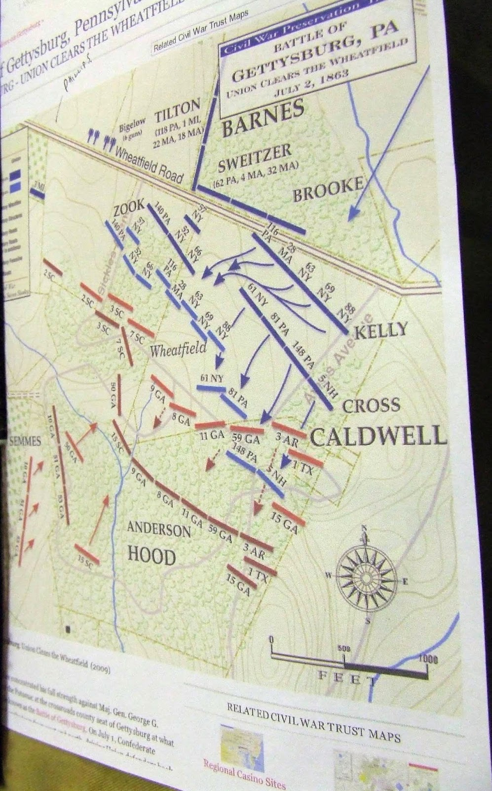 gettysburg game july 2 1863 the union clears the wheatfield october 2013