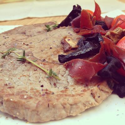 boeuf champignons viande des grisons tomates