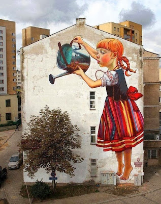 "Art says ""Save Nature"", Grafite, Poland"