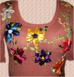 Блузка вышивка лентами 84