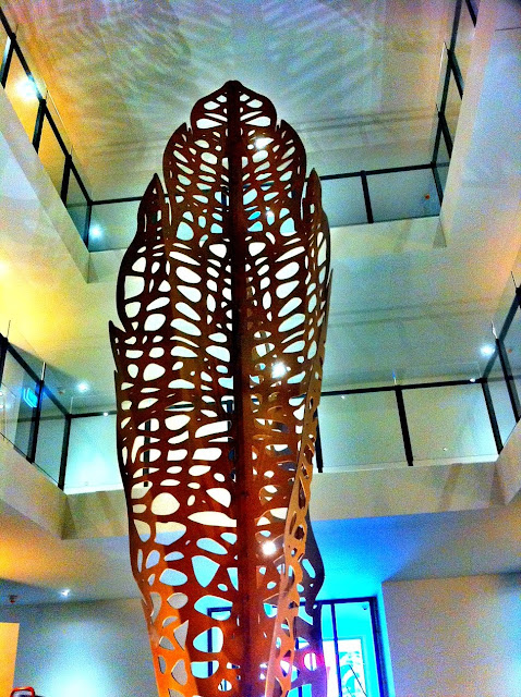 Lump Leaf Skeleton Sculpture Corten Steel