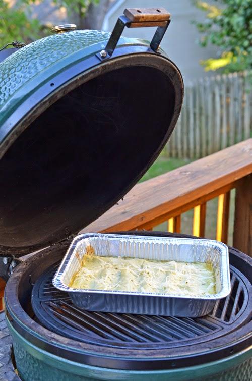 Big Green Egg roasting