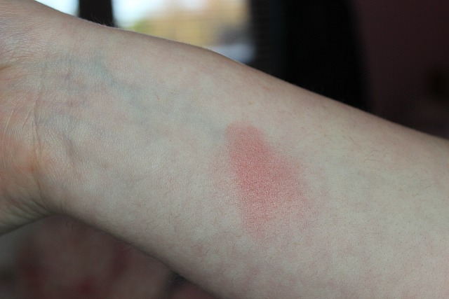 a swatch of nars day dream blush