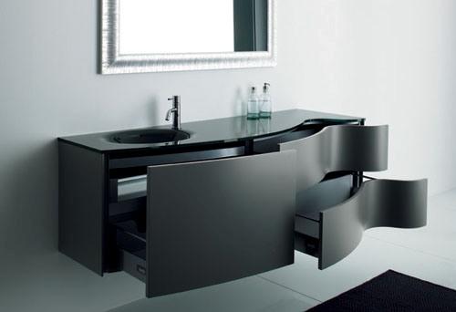 Siyah+renkli,++yeni+banyo+dolap+modeli Banyo Dekorasyonuna Özel Tasarımlar Eklendi