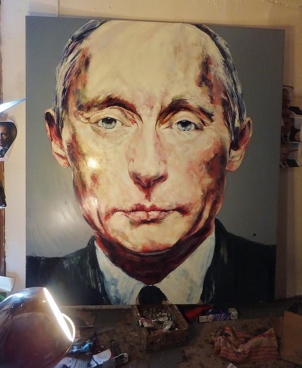 EXPO. galerie Ariel Sibony , débute le samedi 16 Mars...à peine sec Mr Poutine..