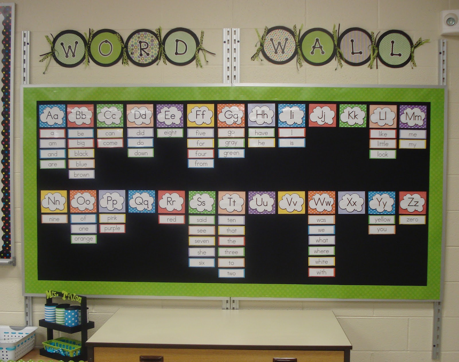 Classroom Word Wall Ideas ~ Kindertrips student work ideas displays